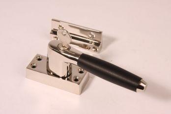 Raamsluiting Links ton-model nikkel-ebbenhout SKG*