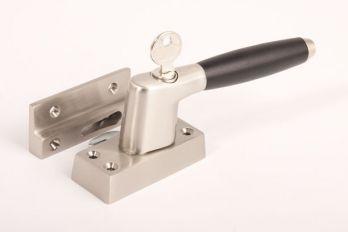 Raamsluiting Links ton-model geborsteld nikkel-ebbenhout SKG*
