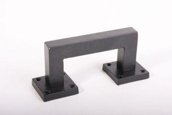 Deurgreep robuust vierkant zwart 130mm