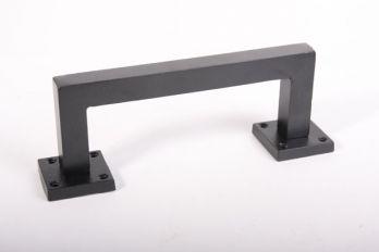 Industriële deurgreep vierkant robuust 205mm zwart