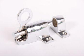 Raamknip voor valraam blinkend chroom 67mm