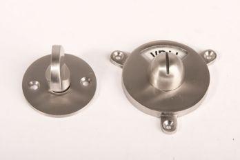 WC sluiting vrij bezet Kramer - ronde rozet geborsteld nikkel
