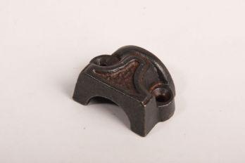Eindgeleider voor espagnoletsluiting roest of zwart per stuks