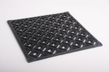 Vierkant rooster gietijzer zwart 24x24cm