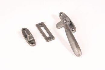 Raamsluiting (Rechts) antiek zilver Dudok met aanslag