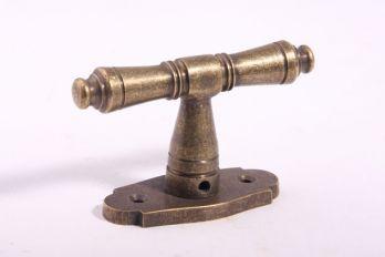 Raamkruk 92mm brons antiek 7mm