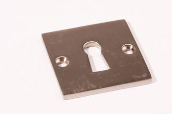 Sleutelrozet Bauhaus geborsteld nikkel vierkant 50mm