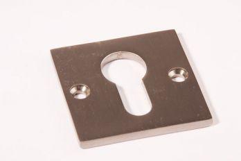 Rozet Bauhaus geborsteld nikkel vierkant 50mm voor cilinderslot