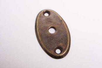 Slotplaatje voor bijzet insteekslot brons antiek gemaakt van een dik massief plaatje.