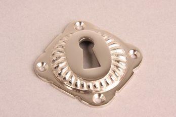 Sleutelrozet geribbeld 65mm blinkend nikkel