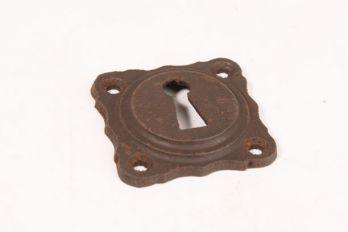 Rozet 43 mm met sleutelgat roest, zwart of tinkleur