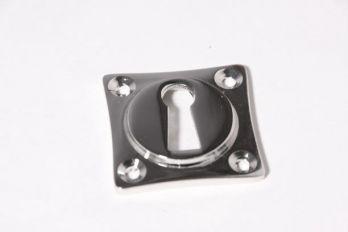 Sleutelrozet 38 mm ton-model met sleutelgat Blinkend chroom