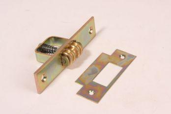 Rolsnapper rolnok slot geel verzinkt voor taatsdeuren en vestibule deuren 120x25mm