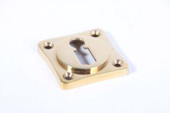 Sleutelrozet 38 mm met sleutelgat messing polijst