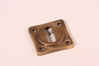 Sleutelrozet 38 mm met sleutelgat brons antiek