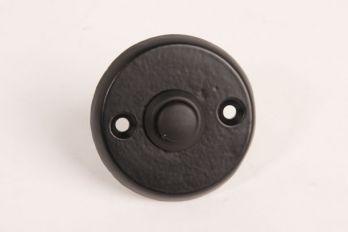 Deurbel-beldrukker rond zwart 50mm
