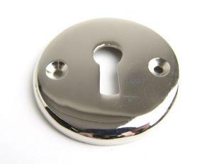 Rozet met sleutelgat blinkend nikkel of chroom