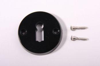Sleutelrozet zwart bakeliet 54mm