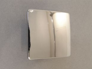 Greep vierkant blinkend chroom 50x50mm of 80x80mm