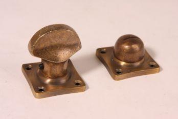 WC sluiting ton model brons antiek