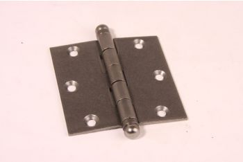 Scharnier metaal grijs 89mm x 89mm tinkleur 3,5 duims met bolkop
