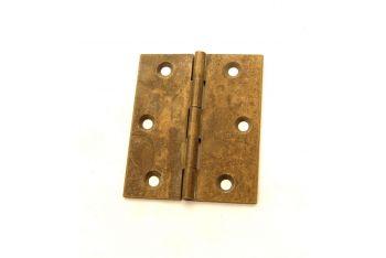 Brons antiek scharnier gemaakt van massief messing met een hoogte x breedte van 60x40mm, 60x50m.