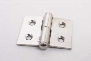 Klein paumelle scharnier opschroefbaar nikkel 30mm x 40mm rechts gemaakt van ijzer