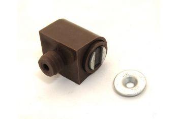 Magneetsnapper verstelbaar bruin voor kastdeurtjes met contraplaatje