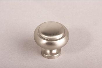 Knop rond geborsteld nikkel 30mm