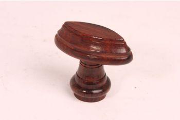 Knop hout rozenhout 55mm
