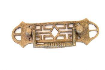 Klassieke ladetrekker voor meubel brons antiek 104mm