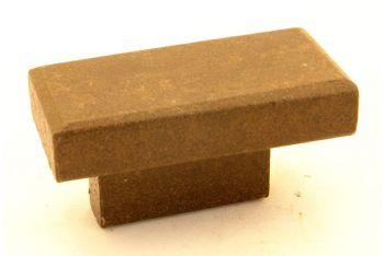 Rechthoekige knop gietijzer roest voor meubelen en keukens