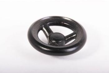 Greepje/knopje 48mm industriële afsluiter zwart