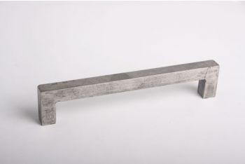 Greep vierkant robuust 16mm zilver antiek 160mm of 192mm