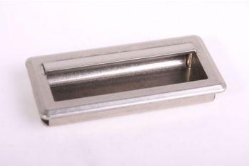 Greep infrees zilver antiek 96mm (107x51mm)