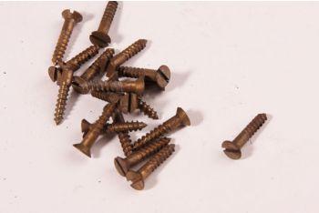 Schroeven platkop 3.0 x 30mm brons antiek gleuf 100 stuks
