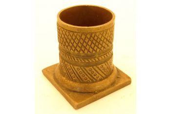 Meubelvoet-sok rond brons antiek 58mm