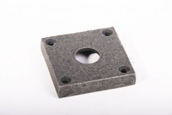 Rozet antiek grijs vierkant 50mm voor kruk/wc-sluiting 15mm gat