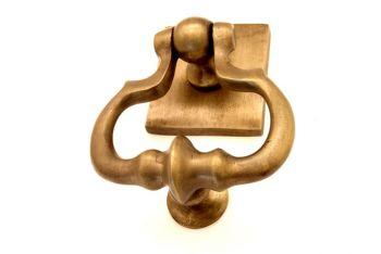 Deurklopper brons antiek met aanslag