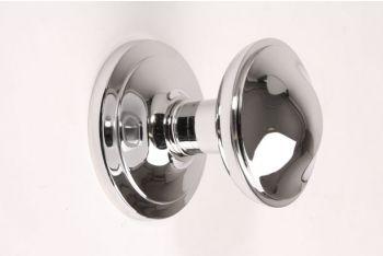 Deurknop blinkend chroom 70mm