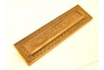 Brievenbus brons antiek tochtklep