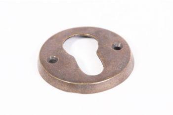 Rozet rond voor cilinderslot brons antiek - cilinderrozet