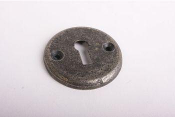 Sleutelrozet rond 50mm met sleutelgat antiek grijs