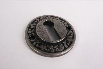 Rozet met sleutelgat zilver antiek 42mm