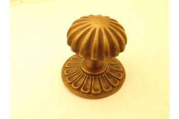 Deurknop brons antiek 80mm