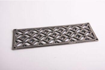 Rooster zilver antiek 8x22cm