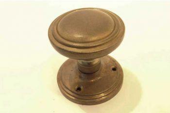 Deurknoppen rond brons antiek voor binnendeur 63mm per paar
