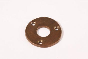 Rozet brons antiek rond 40mm voor deurkruk