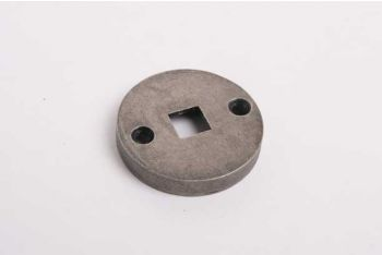 Rozet rond 41mm zilver antiek voor trekbel los