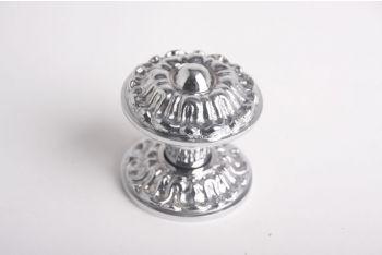 Deurknop blinkend chroom 71mm